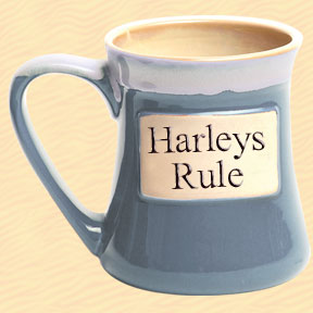 Harleys Rule Tumbleweed Classic Word Oversized Coffee Mug