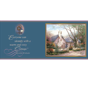 Thomas Kinkade Painter of Light Morning Glory Cottage Everyday Coffee Mug