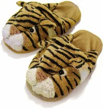 Funny Dezi AniMules Fuzzy Tiger Slippers - Adult Size