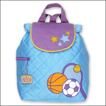 Stephen Joseph Girl Sports Theme Quilted Backpack