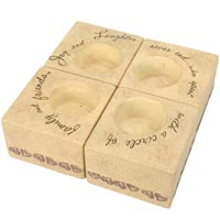 "Comfort Candles Circle of Life 3"" Square Candles set"