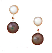 Black & White Classic Pearl Earrings by Charles Albert