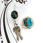 "Finders Key Purse ""E"" Monogram Key Finder"