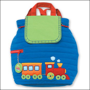 Stephen Joseph Train Theme Quilted Backpack