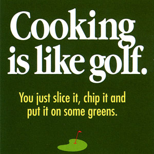 Cooking Is Like Golf High Cotton Funny Apron