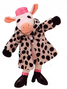 Jellycat Plush Cow in Spotted Fur Coat