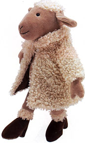 Jellycat Plush Sheep in Fur Coat