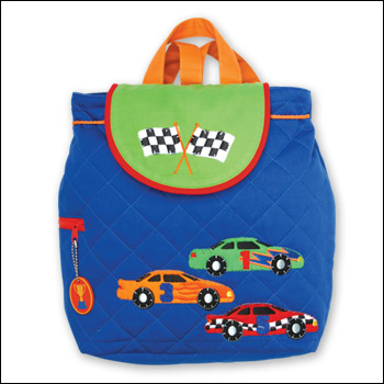 Stephen Joseph Race Car Quilted Backpack