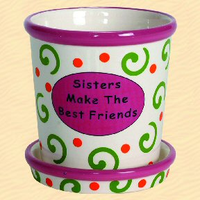 Sisters Make The Best Friends Tumbleweed Whimsical Planter