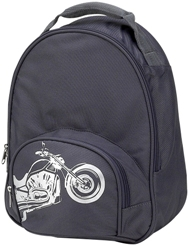 Gray Biker Toddler Backpack by Four Peas