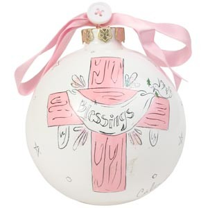 Blessings - Girl Cute as a Button Ornament