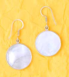 Mother of Pearl Earrings by Chales Albert