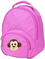 Pink Monkey Toddler Backpack by Four Peas