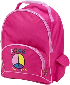 Pink On Earth School Backpack by Four Peas