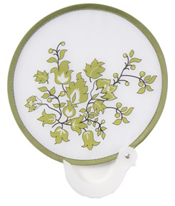 Finders Key Green Floral Purse Fan