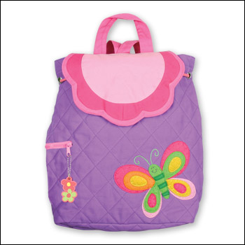 Stephen Joseph Kids Butterfly Themed Quilted Backpack