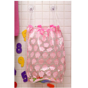 Ore Living Goods Little Piggy Bath Tub Toy Bag