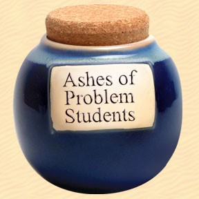 Ashes of Problem Students Classic Word Jar