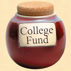 College Fund/Money Classic Word Jar