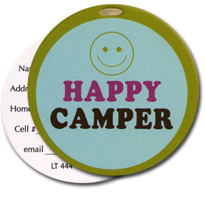 Happy Camper High Cotton Funny Luggage Tags