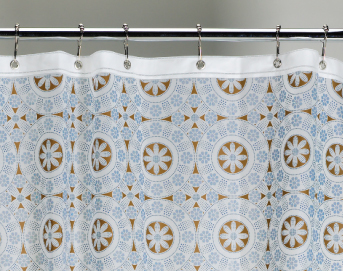 Ore Living Goods Button Blossom Shower Curtain