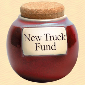 Tumbleweed New Truck Fund Classic Word Jar