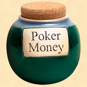 Poker Money Classic Word Jar