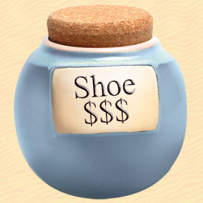 Shoe $$$ Classic Word Jar