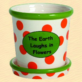 The Earth Laughs in Flowers Tumbleweed Whimsical Planter