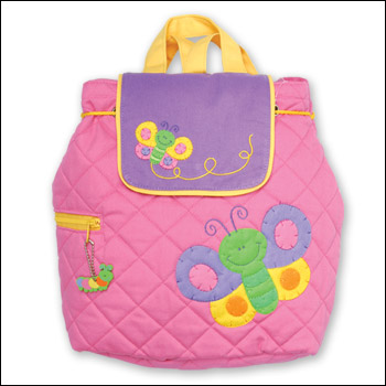 Stephen Joseph Kids Pink-Purple Butterfly Quilted Backpack