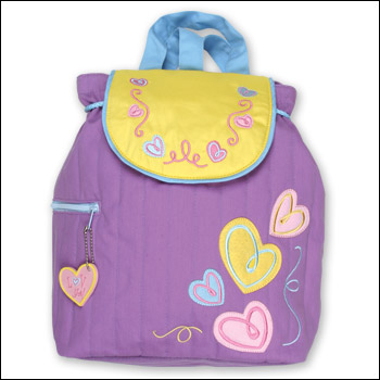 Stephen Joseph Quilted Hearts Backpack