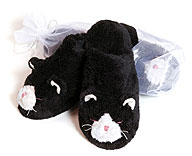 Warm Whiskers Heated Adult Cat Slippers