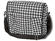 Room It Up Houndstooth Messenger Bag