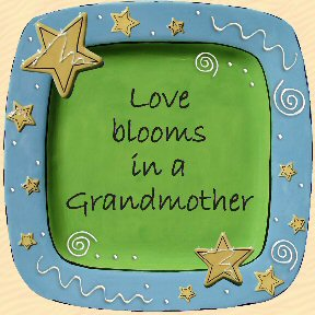 Love Blooms in a Grandmother Tumbleweed Sentiment Platter