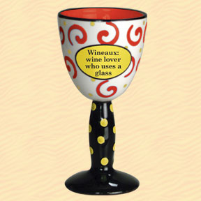 Wineaux: Wine Lover Who Uses A Glass Tumbleweed Wine Goblet