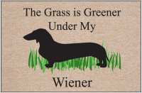 Grass is Always Greener Funny Doormat