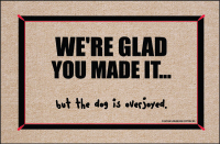 We're Glad You Made It... Funny Doormat
