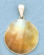 Charles Albert Black Lip Mother-of-Pearl Shell Pendant