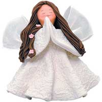 Praise Small Kneeded Angel Figure