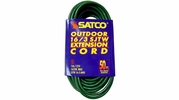 Satco 93-5025  50' Green Light Duty Outdoor Extention Cord (16-3 SJTW)