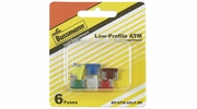 Bussmann BP/ATM-A6LP-RP  ATM Low-Profile Automotive Mini Blade Fast-Acting Fuse 6 Fuse Assortment