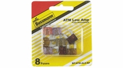 Bussmann BP/ATM-AL8-RP  ATM Automotive Mini Blade Fast-Acting Fuse 8 Fuse Low Amp Assortment