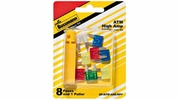 Bussmann BP/ATM-AH8-RPP  ATM Automotive Mini Blade Fast-Acting Fuse 8 Fuse High Amp Assortment with Fuse Puller