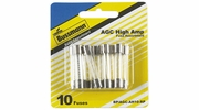 "Bussmann BP/AGC-AH10-RP  AGC 1/4"" x 1-1/4"" Fast-Acting Glass Tube Fuse 10 Fuse High Amp Assortment"