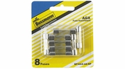 "Bussmann BP/AGX-A8-RP  AGX 1/4"" x 1"" Fast-Acting Glass Tube Fuse 8 Fuse Assortment (5 to 30 amp)"