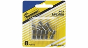 "Bussmann BP/AGA-AL8-RP  AGA 1/4"" x 5/8"" Fast-Acting Glass Tube Fuse 8 Fuse Low Amp Assortment (1 to 7.5 Amp)"
