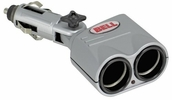 Bell Automotive 39066  Double Socket 12-Volt Accessory - Lighter Plug Direct Adapter - Silver