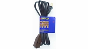 Satco 93-193  6' Brown 3 Outlet Polarized Extension Cord - 16/2 SPT