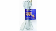 Satco 93-194  9' White 3 Outlet Polarized Extension Cord - 16/2 SPT