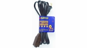 Satco 93-195  9' Brown 3 Outlet Polarized Extension Cord - 16/2 SPT